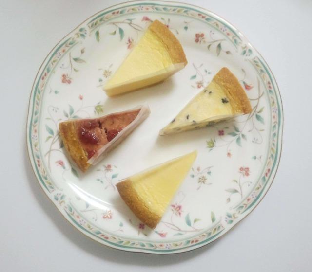 カットケーキ4コ入の上からの写真