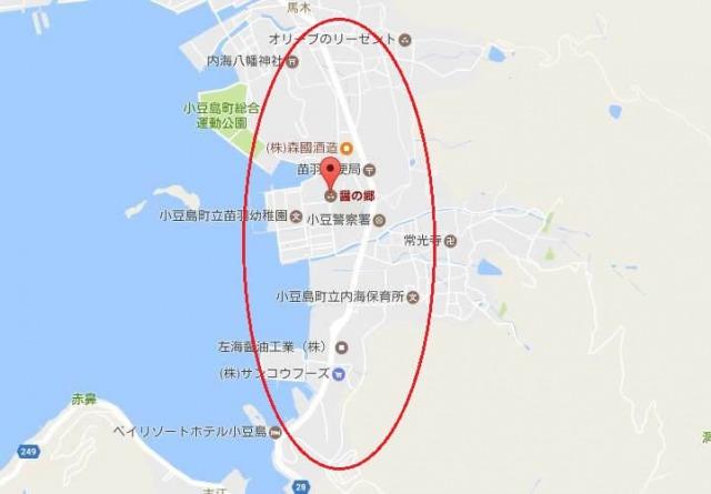 醤の郷(ひしおのさと)周辺の地図