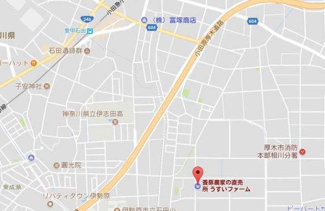 うすいファーム周辺地図
