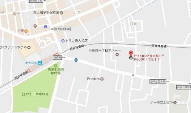 有楽製菓 東京工場直売店周辺地図