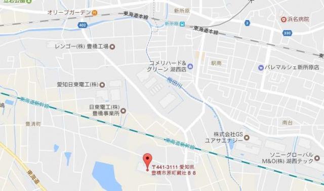 有楽製菓 豊橋夢工場直売店周辺地図